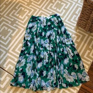 Anthropologie Maeve floral pleated skirt size xs
